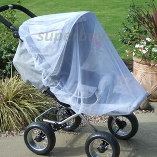 Large Pram Stroller Pushchair Child Buggy Mosquito Insect Fly Net Protects Mesh