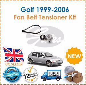 Fits-VOLKSWAGEN-VW-GOLF-1-9TDi-1999-2006-8-V-Alternateur-Courroie-De-Ventilateur-amp-TENDEUR-de-kit