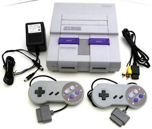 Super Nintendo Entertainment System Orig SNES Console SNS-001 Video Game Bundle