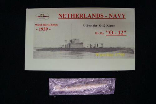 """HP Models 1:700  WL niederländisches  U-Boot der O-12 Klasse  /""""O-12/"""" 1939"""