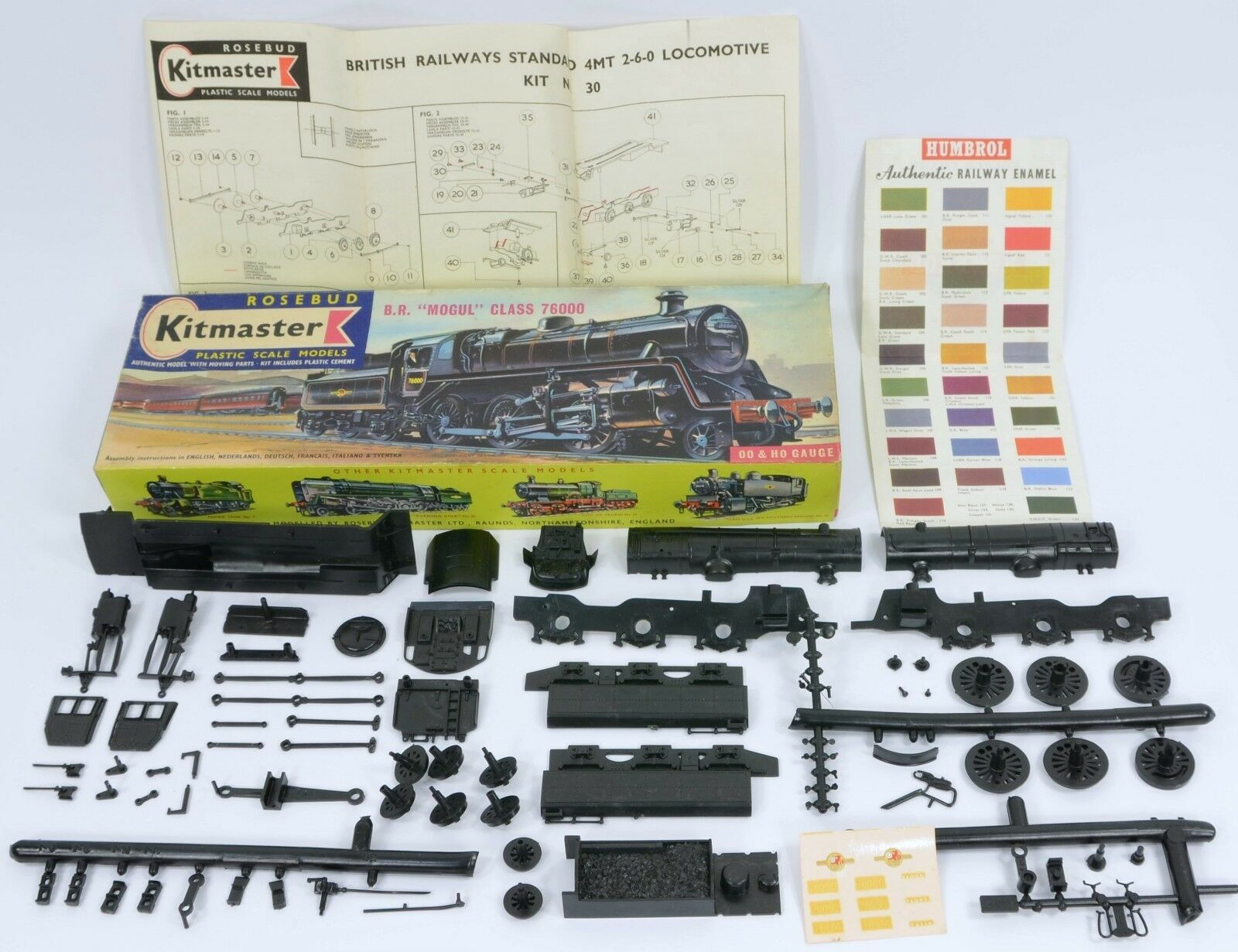 KITMASTER 30 MODEL RAILWAY BR MOGUL INSTR's & DECALS UNMADE COMPLETE & BOXED