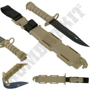 Details about Rubber Training Knife Desert Tan Self Defence Airsoft Bayonet  Military Style
