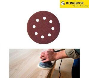 125mm-5-034-8-Hole-Sanding-Discs-Sandpaper-KLINGSPOR-Wood-Varnish-Paint-Filler