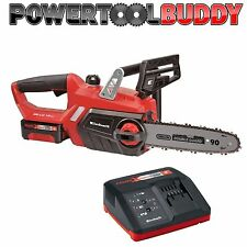 """Heavy Duty Einhell 18v Li-ion Cordless 12"""" Chainsaw + 3Ah Battery & Charger"""