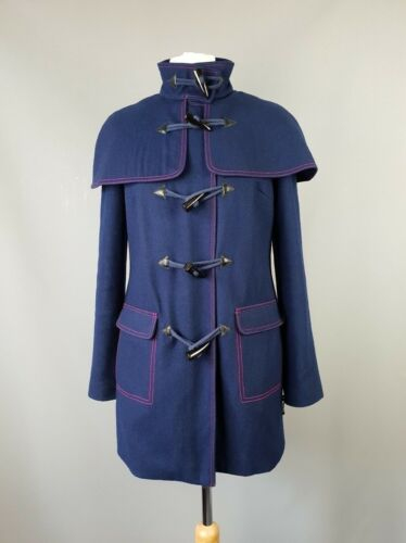 Coat 2 Duffle Taglia Jacket Baker Blend Schell Blu Ted Uk 10 Wool z4aH1