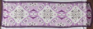 NOUVEAUTES-Purple-White-Brown-Print-Sheer-100-Silk-Scarf-Rectangle-70-x-20