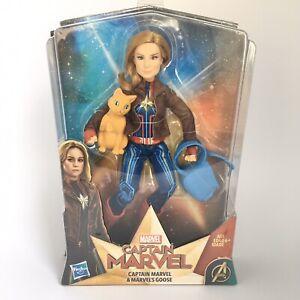 Marvel-Movie-Captain-Marvel-Super-Hero-Doll-amp-Marvel-039-s-Goose-the-Cat