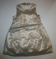 Gymboree Gold Brocade Dress 3t Holiday Shine Christmas Lined Tulle Girls