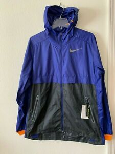 al con 590 hombre 928489 Shield viento impermeable resistente capucha y Chaqueta Running azul para Nike dng6vxFwq