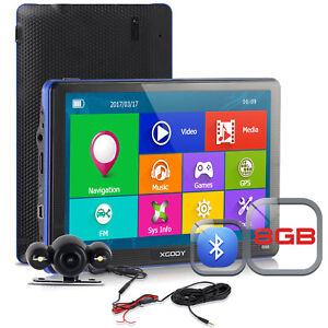 XGODY 886 7'' Car GPS Navigation Device 8GB with Wired Rear view Backup Camera