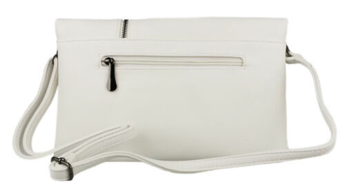 Faux Leather Flap Zipper Flap Clutch Bag Wrist Envelope Womens Designer Fashion