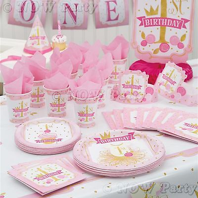 Unique Party 58159 Pink And Gold Girls 1st Birthday High Chair