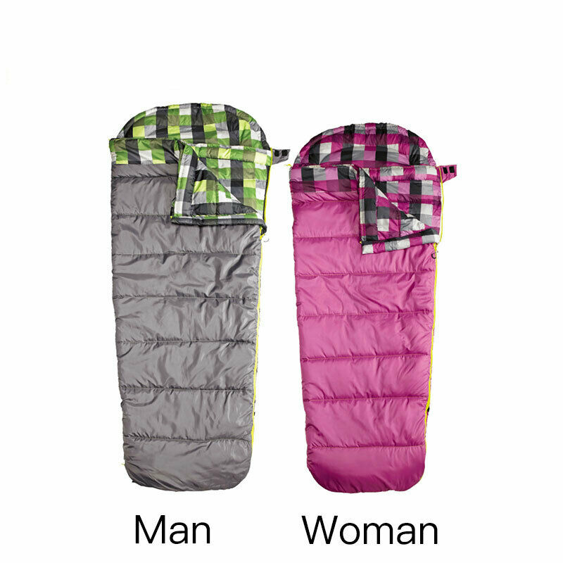 30°F -1°C Polyester Sleeping Bag Lightweight Waterproof Camping Hiking Case New