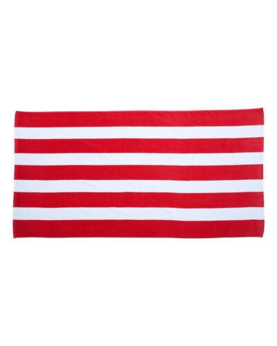 "CABANA STRIPE Velour Beach Towel 30/"" x 60/"" NEW AWESOME Cabana Stripe pattern NEW"