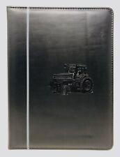 Vintage Case Tractors Logo Black Padded Folder Business Portfolio Vinyl