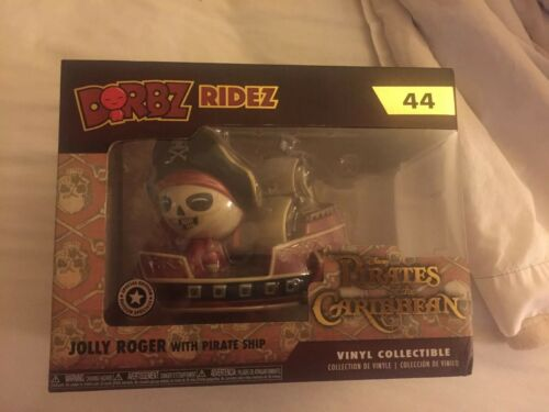 Pirates Of The Caribbean Jolly Roger With Pirate Ship #44 Funko Dorbz Ridez