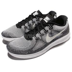35dd8d87bd76 Nike Free RN 2017 Run Grey White Men Running Shoes Sneakers Trainers ...