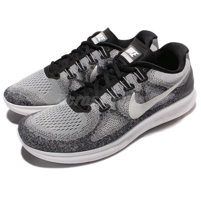 Nike Free RN 2017 880839 002 Wolf Grey Off White Black Run Running Shoes SALE
