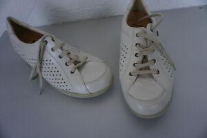 FINN-COMFORT-Damen-Schuhe-Schnuerschuhe-mit-Einlagen-Gr-6-5-40-weiss-creme-Leder