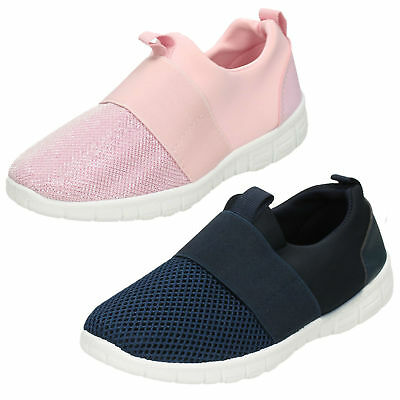Girls H2440 Pink Slip On Trainers By Spot On £9.99