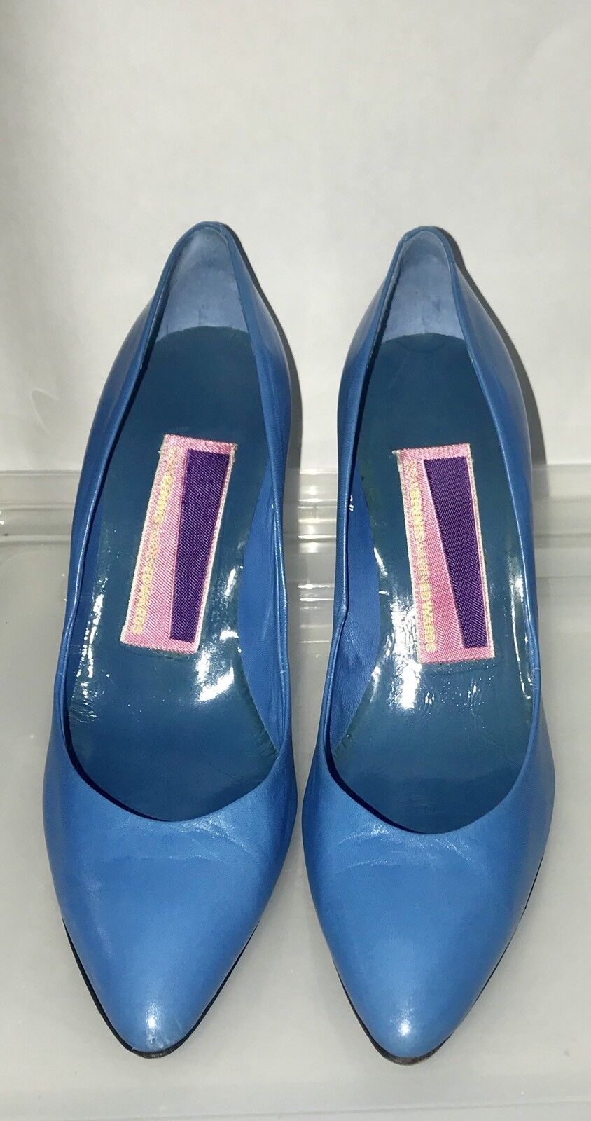 Susan Bennis Warren Edwards Blau Heels 9 B Original Owner