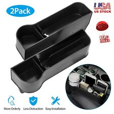 2pcs Car Console Side Seat Gap Catcher Filler Organizer Withcup Holder Left Right Fits Nissan