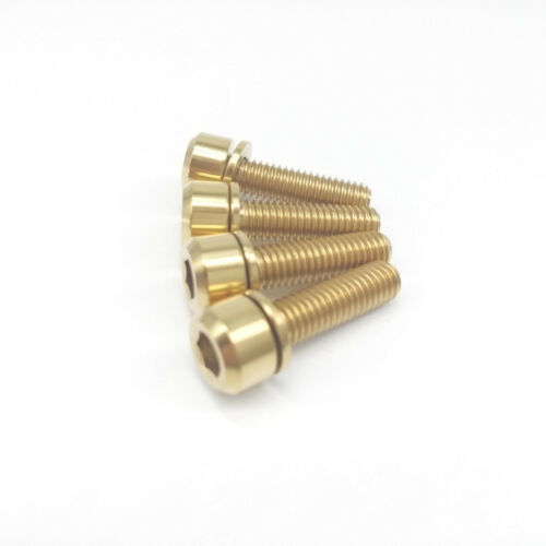 New 4pcs M5x18mm Titanium Ti Bolt w// Ti Spacer fit FSA Thomson RaceFace Stem