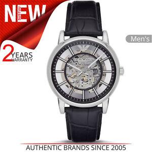 38bbfe1bb5fd Emporio Armani Luigi Men s Watch AR1981│Skeleton Round Dial│Black ...