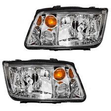 2002 - 2005 VW JETTA HEADLIGHT HEADLAMP LIGHT W/FOG LAMP LEFT AND RIGHT PAIR