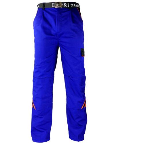 Arbeitshose Arbeitskleidung Hose Blau Schwarz Orange Profi Qualität Gr 46-60