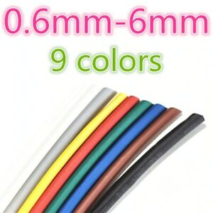 Heat Shrink Tubing Tube Wire  1meter 2:1 different Colors 0.6mm to 6mm Quality