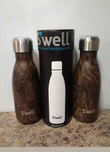 90d79188af Swell Vacuum Insulated Stainless Steel Water Bottle,9 oz, WENGE WOOD ...