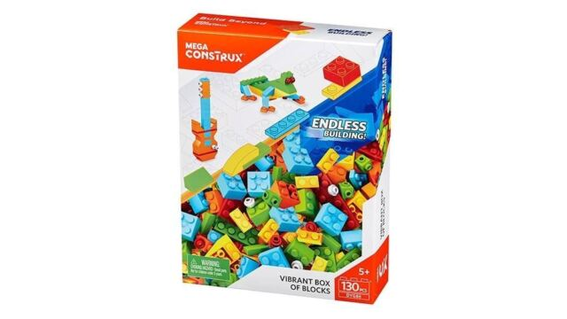 Mega Construx Vibrant Box of Blocks 130pcs Medium Blocks