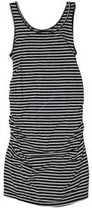 New-Women-039-s-Maternity-Clothes-Tank-Dress-Black-Grey-Ruching-NWT-Size-XS-S-M