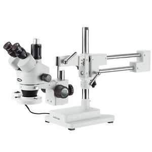 AmScope-7X-90X-Trinocular-Stereo-Boom-Zoom-Microscope-Fluorescent-Light