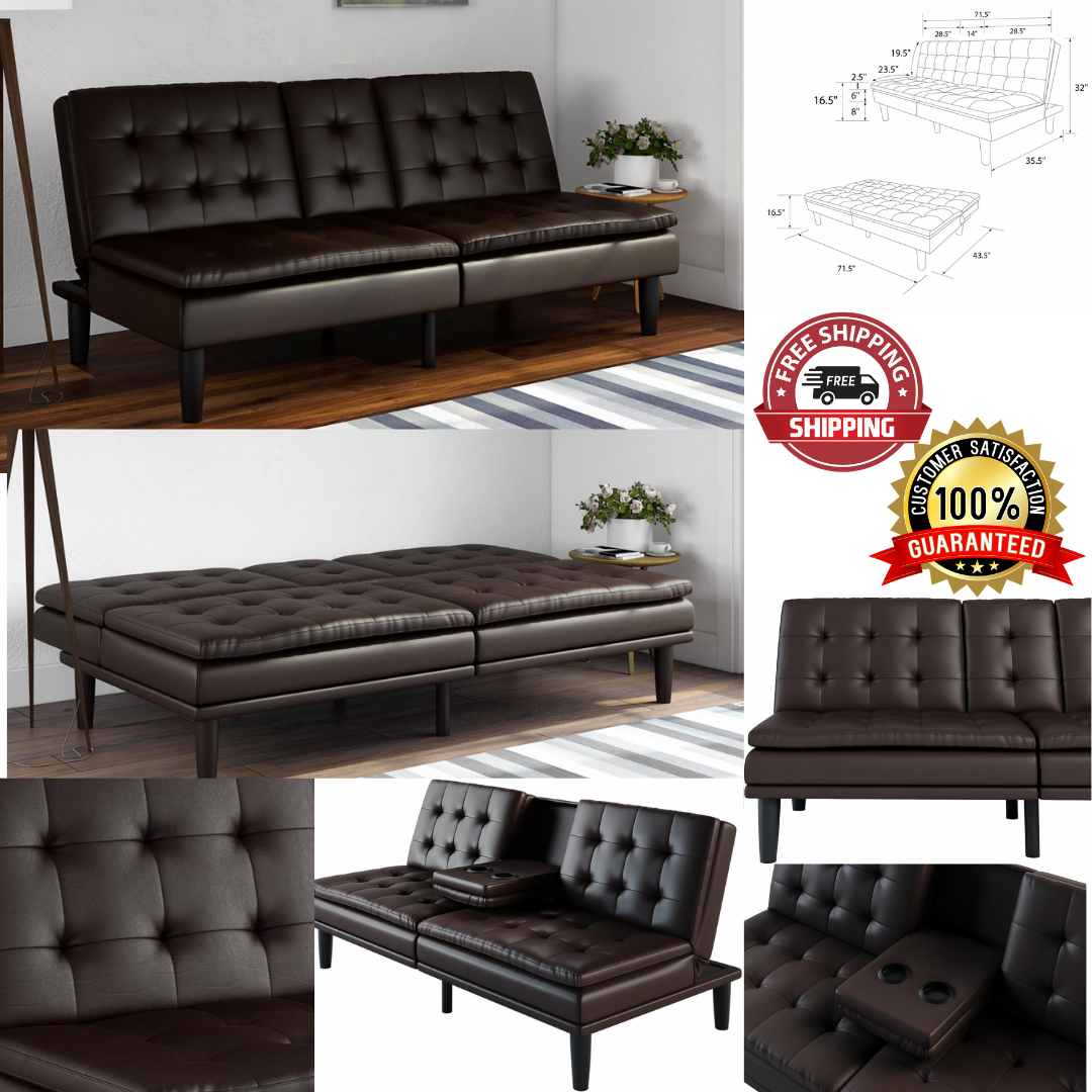 - Sealy Belize Transitional Convertible Sofa With Storage In Brown