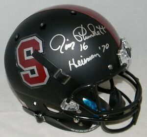 9209e112aa7 Image is loading JIM-PLUNKETT-AUTOGRAPHED-SIGNED -STANFORD-CARDINAL-MATTE-BLACK-