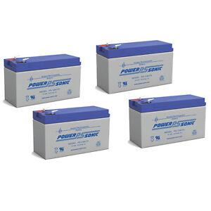 Power-Sonic-4-Pack-12V-9AH-F2-Sealed-Lead-Acid-Battery-for-CSB-HR1234WF2