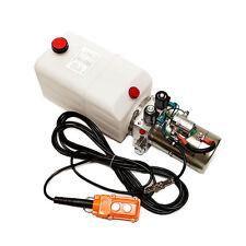 12 Volt Hydraulic Pump for Dump Trailer - 6 Quart Poly - Double Acting