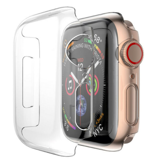 wholesale dealer 855a2 f6e2a Case for Apple Watch (series 4 40mm) - Clear Hard Shell Screen Guard Cover