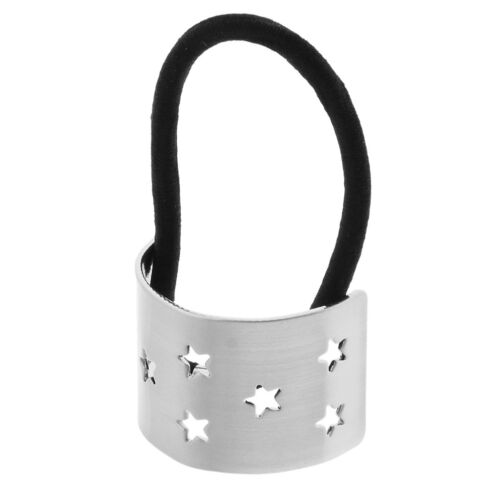 Star Metal Ponytail Ring Wrap Cuff Hair Ring Elastic Band Accessories Women