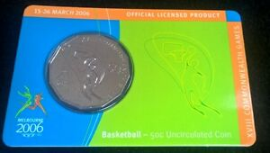 2006-50-CENT-COMMONWEALTH-GAMES-BASKETBALL-CARDED-UNCIRCULATED