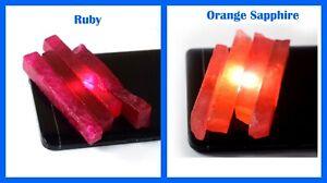 480 Carat 65 mm Natural Orange Sapphire & Ruby 8 Pcs Gemstone Slice Rough Lot