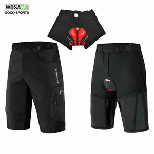 Men-039-s-Baggy-Cycling-Shorts-Padded-Underwear-Mountain-MTB-Bike-Pants-Bicycle