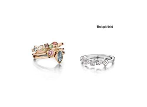 Melano anillo con piedras Mosaic tamaño 56 FR 22 SSMC multi Color beisteck anillo