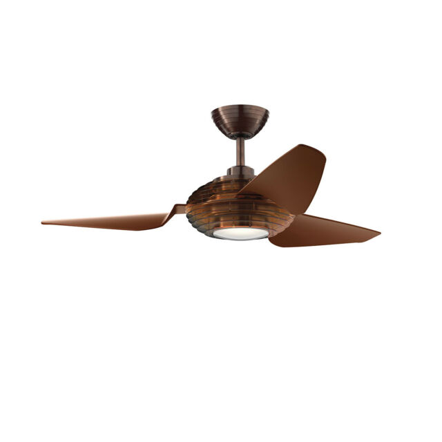 """Kichler Voya 50"""" Ceiling Fan with LED Light and Wall Control, Oil Brushed Bronze"""