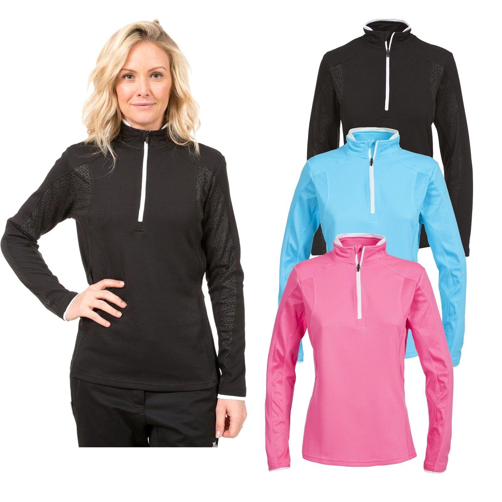 Trespass Ollog Womens Active Long Sleeve Top Gym Workout Reflective Jumper