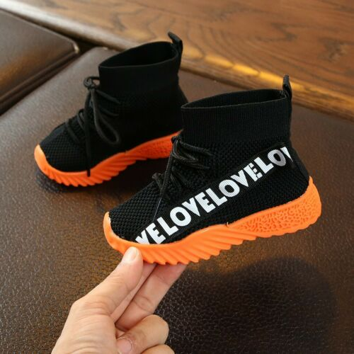 Kids Toddler Infant Baby Boys Girls Mesh Boots Sport Shoes Sneakers Breathable
