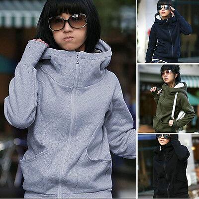 Women Hooded Cotton Coat Leisure Sport Sweatshirt Winter Autumn Jacket Pullover