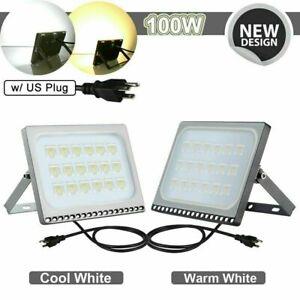 LED-Flood-Light-10-20-30-50-100W-Security-Flood-Light-w-US-Plug-Outdoor-Lamp-US